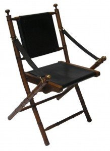 Kartini Folding chair leather seat