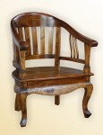 Lenong Arm Chair _wooden seat