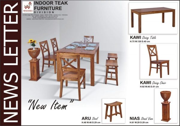 News Letter Kawi Dining Set is highly prized furniture