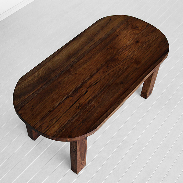 Oval coffee table indoor teak furniture for Oval teak coffee table