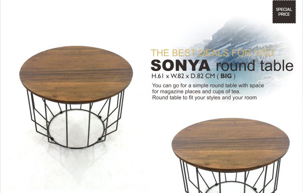 SONYA Teak Round Table Big