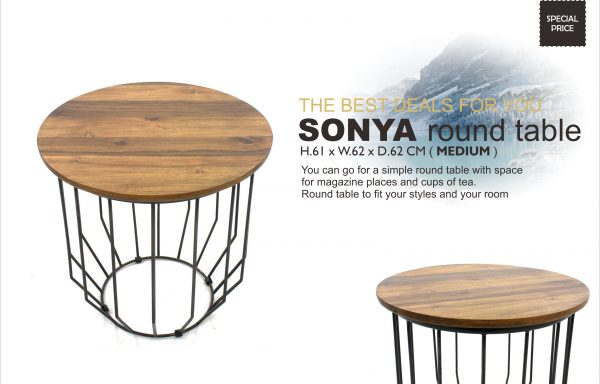Sonya Teak Round Table Medium