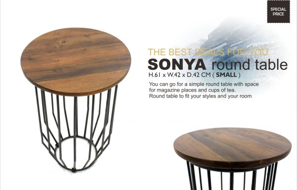 Sonya Teak Round Table Small