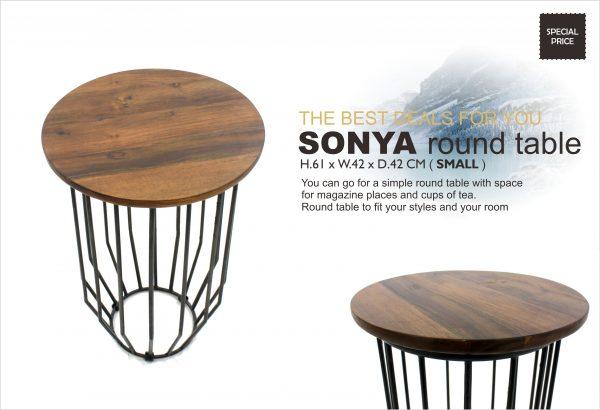 Sonya Teak Round Table Small