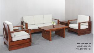 Antoneo Wooden Living Set Furniture