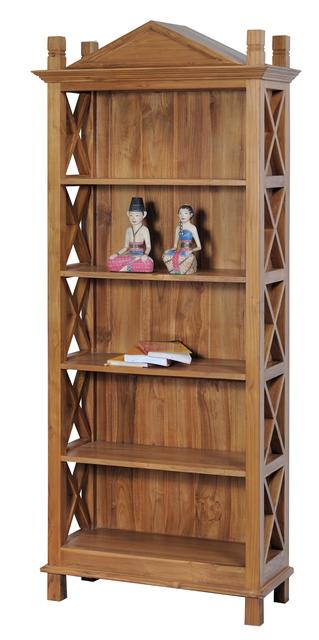 Aziza bookrack indoor teak furniture Ashley home furniture jakarta
