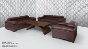Balley Sofa Wooden Living Set Furniture