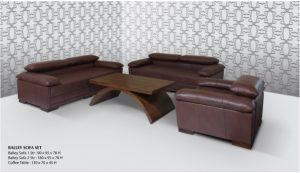 Balley Sofa Wooden Living Set Furniture