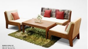 Baresh Wooden Living Set Furniture