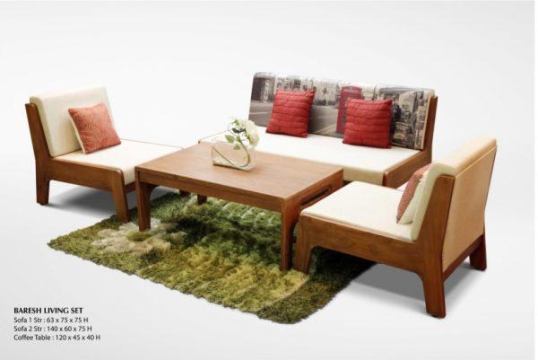 Baresh Wooden Living Set Furniture