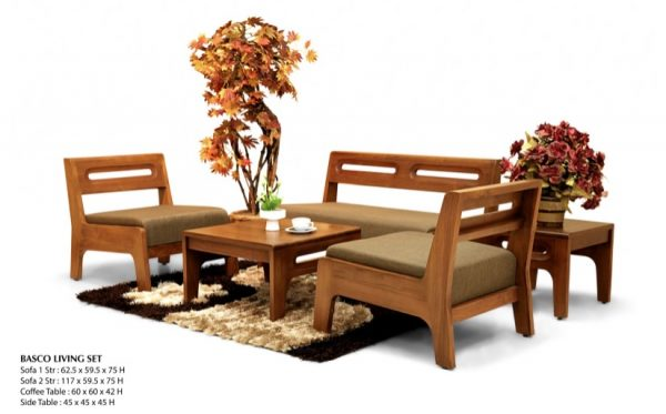 Basco Wooden Living Set Furniture
