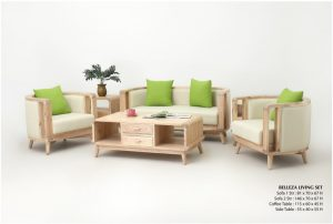 Belleza Wooden Living Set Furniture