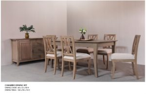 Camarro Wooden Dining Set Furniture