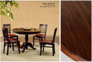 Carissa Wooden Dining Set Furniture