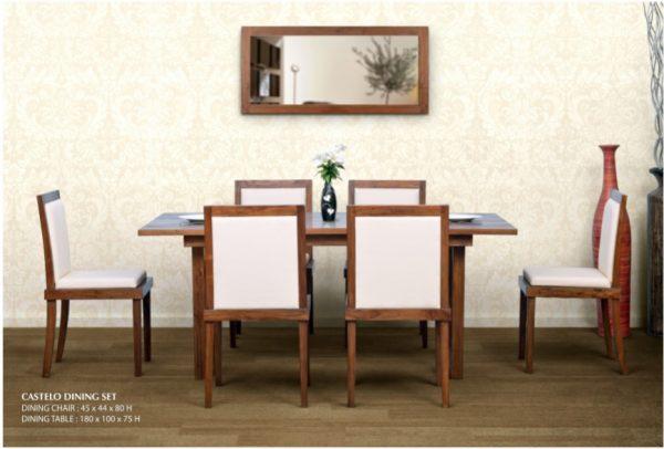 Castelo Wooden Dining Set Furniture