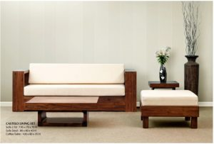 Castelo Wooden Living Set Furniture