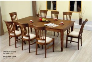 Cindy Wooden Dining Set Furniture