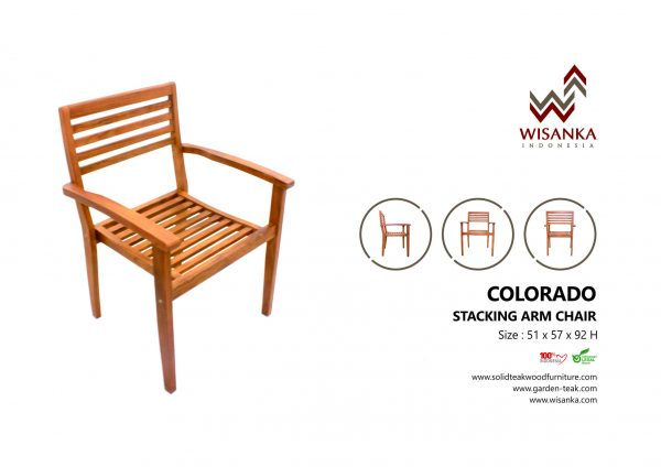 Colorado Stacking Arm Chair