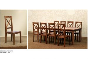Cross Wooden Dining Set Furniture
