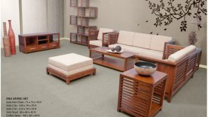 Dili Wooden Living Set Furniture