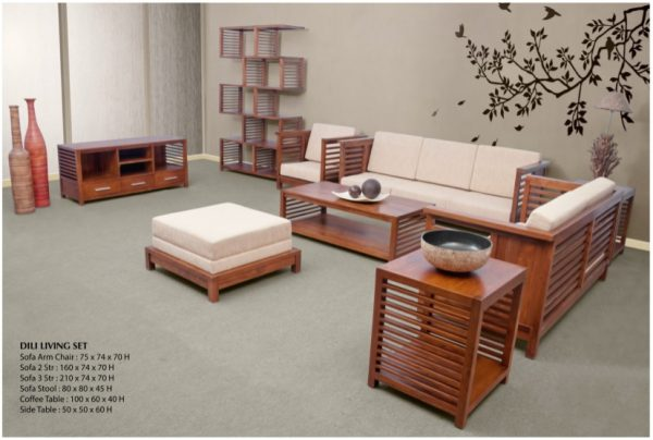 Dili Wooden Living Set Furniture