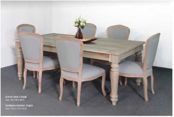 Florian Louis Wooden Dining Set Furniture