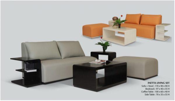 Inetta Wooden Living Set Furniture