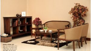 Josela Wooden Living Set Furniture