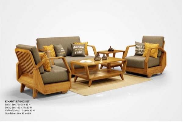 Kinanti Wooden Living Set Furniture