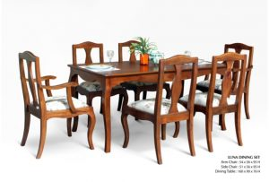 Luna Wooden Dining Set Furniture