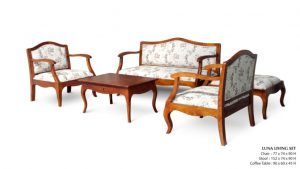 Luna Wooden Living Set Furniture