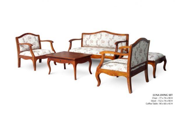 Luna Wooden Living Set Furniture