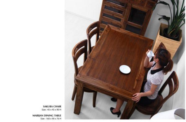 Marijan Wooden Dining Set Furniture