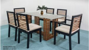 Mozaic Wooden Dining Set Furniture