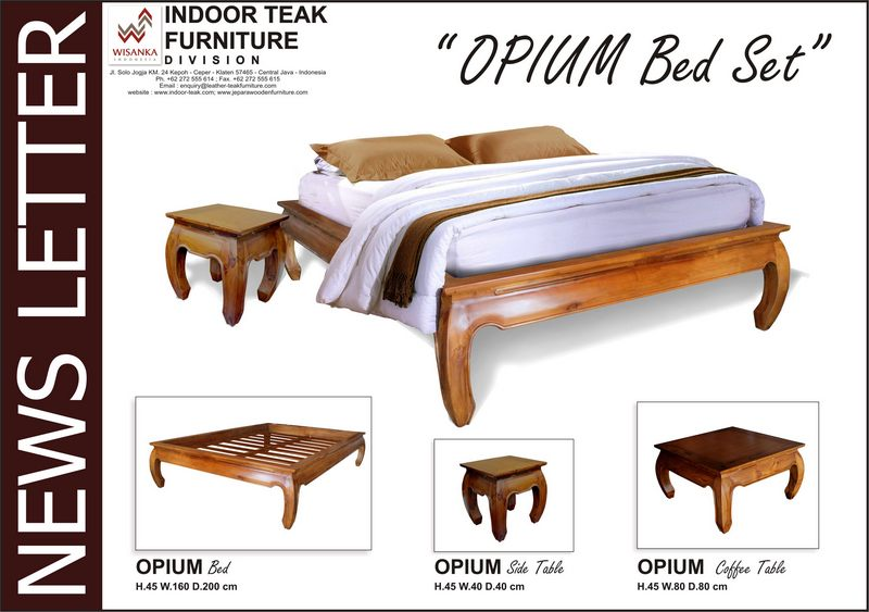 News Letter opium bed set