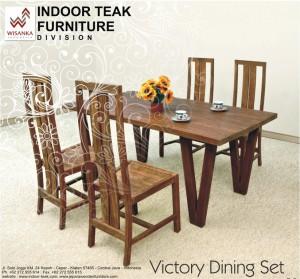 News Letter victory Indoor teak dining Table set