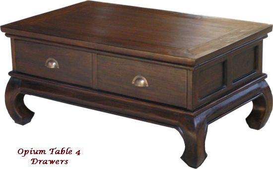 Opium Table 4 Drawers