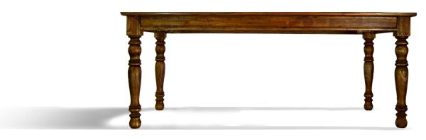 Raffles Dining table Fluted legs