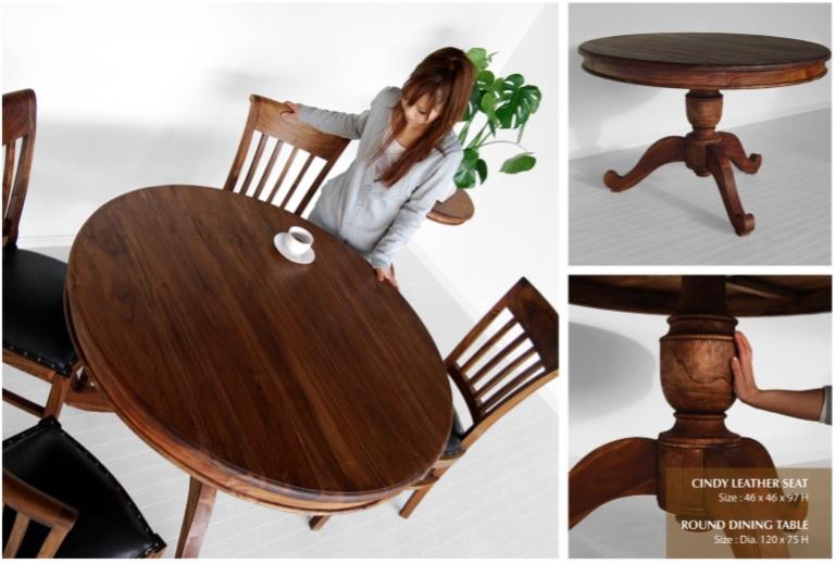 Wholesale Round Wooden Dining Set Furniture Wooden Dining Set Furniture