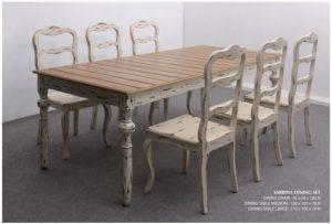 Sabbrina Wooden Dining Set Furniture