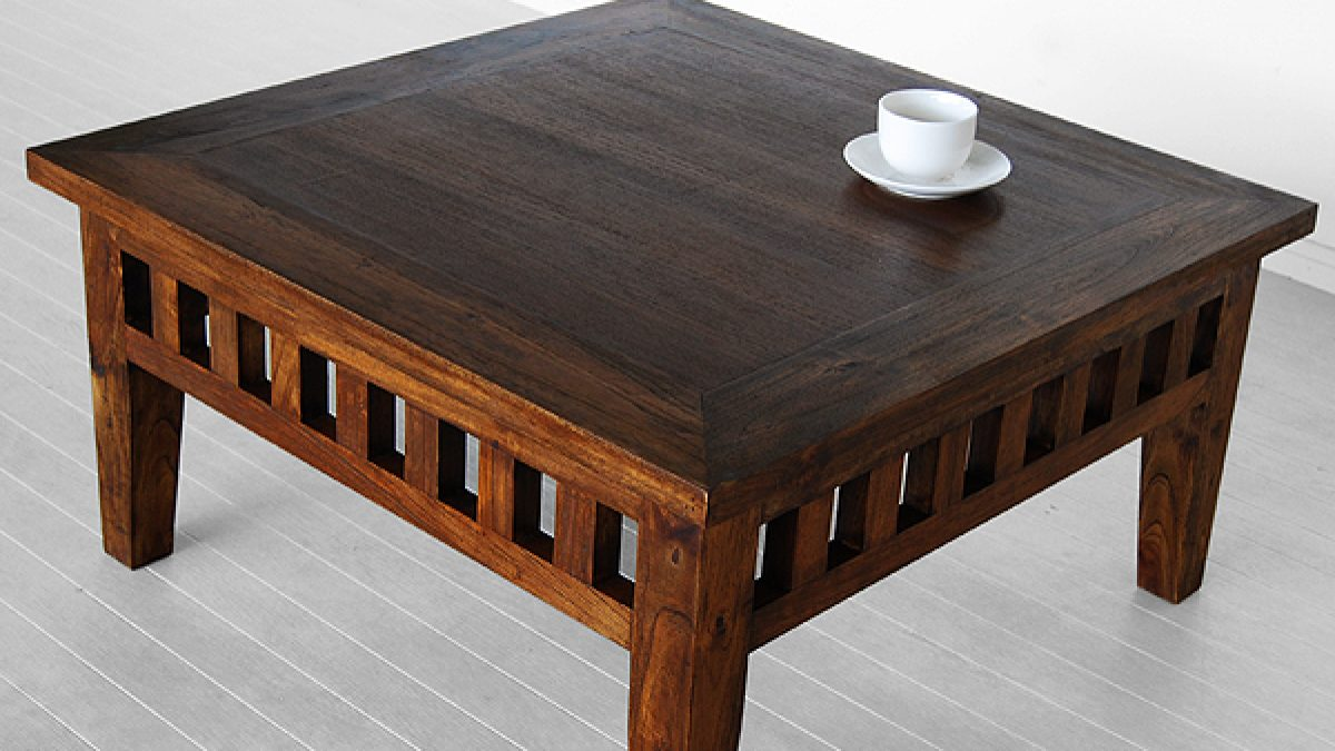 Square Coffee Table Indoor Teak Furniture