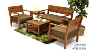 Toppe Wooden Living Set Furniture