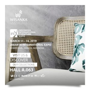 Wisanka Indonesia IFEX 2019 Indoor Living Chair Decoration