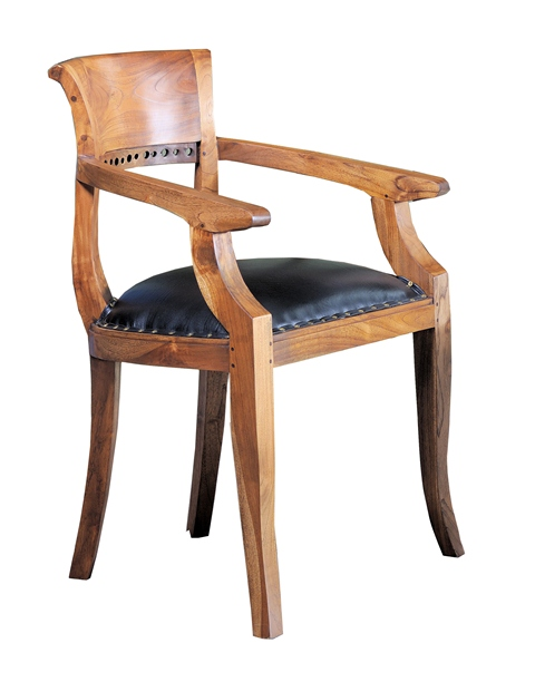 Italy Arm Chair leather seat