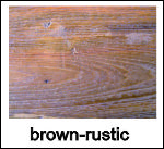 brown rustic finish