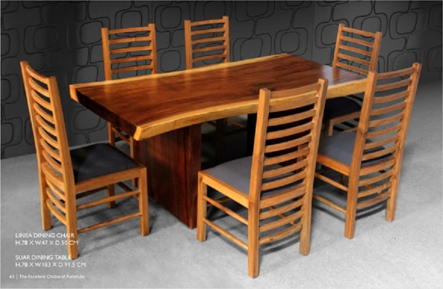 Slab Dining Table Indonesia Furniture Indoor Teak